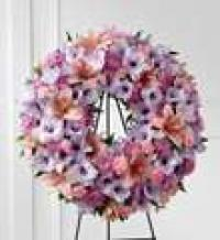 wreath assorted flowers sleep peace